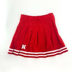 nwt   Zoozatz Nebraksa Huskers Cheerleader Skirt